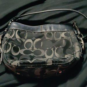 Little black Coach purse,  wristlet & change pouch
